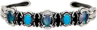 Couture Carolyn Pollack Sterling Silver Multi Gemstone Cuff
