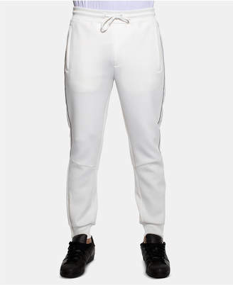 Sean John Men Classic-Fit Stretch Logo Tape Track Pants