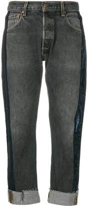 KENDALL + KYLIE Kendall+Kylie sequin stripe cropped jeans