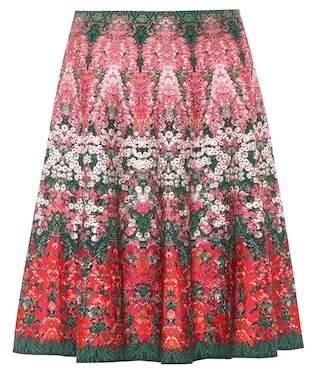 Alexander McQueen Silk-blend jacquard skirt