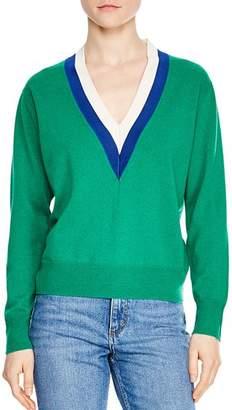 Sandro Nael Wool & Cashmere V-Neck Sweater
