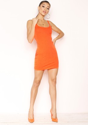 Missy Empire Missyempire Laurie Neon Orange Mini Dress