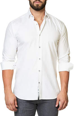 Maceoo Shaped-Fit Luxor Snowflake Solid Sport Shirt