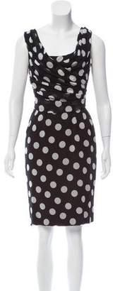 Dolce & Gabbana Polka Dot Print Silk Dress