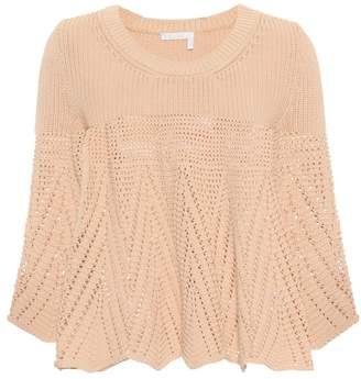 Chloé Crocheted cotton sweater