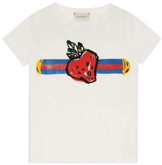 Gucci Children's T-shirt with Sylvie Web
