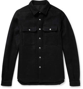 Rick Owens Boiled Wool Overshirt