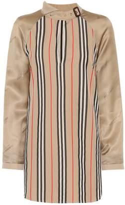 Burberry Striped cotton-blend blouse