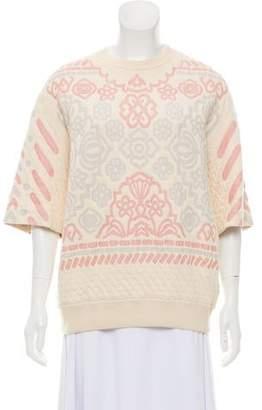 Stella McCartney Embroidered Short Sleeve Sweater