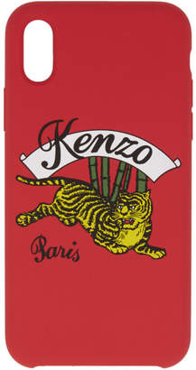 Kenzo Red Jumping Tiger iPhone X Case