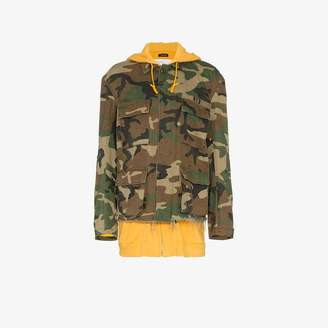 R 13 camouflage hooded cotton jacket
