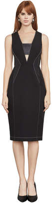 BCBGMAXAZRIA Beverly Faux-Leather Inset Dress