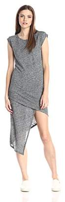 Alternative Women's Linen Asymmetrical Midi Dress