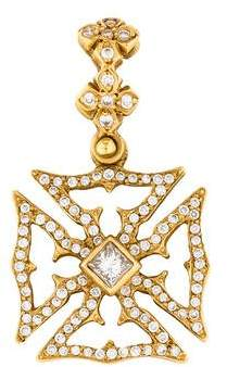 Loree Rodkin 18K Diamond Maltese Cross Pendant