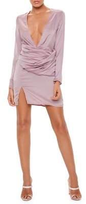 Missguided Long-Sleeve Panel Sheath Dress