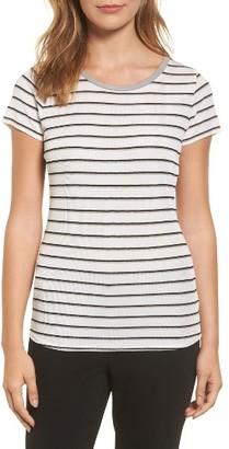 Women's Boss Enala Stripe Rib Knit Tee $135 thestylecure.com