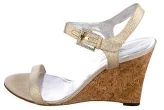Dolce & Gabbana Metallic Ankle-Strap Sandals