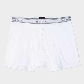 Men's White Four Button Boxer Briefs $50 thestylecure.com
