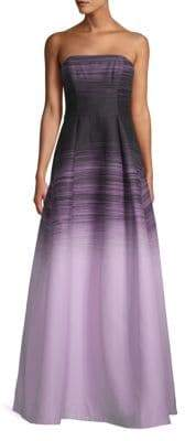 Halston Strapless Ombre Gown