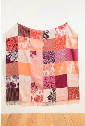 Desigual Romantic Patch Throw Blanket