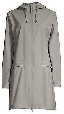 Rains Women's Hooded Zip-Up Mackintosh