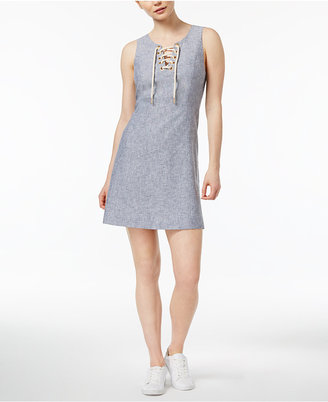 kensie Sleeveless Lace-Up Dress $89 thestylecure.com