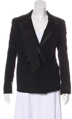 Donna Karan Ruffled Wool-Blend Blazer