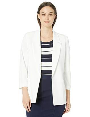 Nine West Women's Notch Collar Crepe Jacket