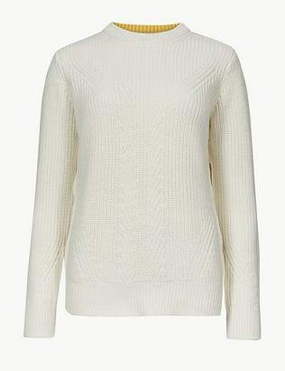 Marks and Spencer Pure Cotton Textured Jumper