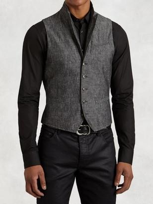 Cotton Linen Wire Collar Vest $598 thestylecure.com