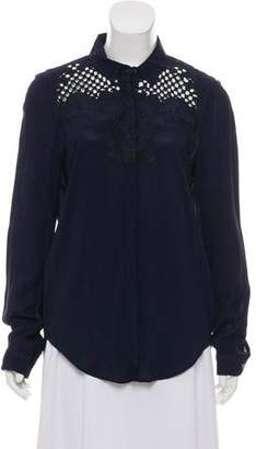 The Kooples Embroidered Button-Up Top