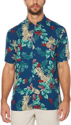Cubavera Floral Pineapple Print Shirt