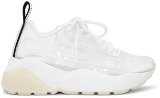 Stella McCartney White and Transparent Eclypse Sneakers