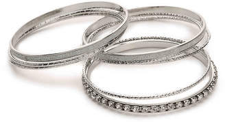Kelly & Katie Glitter Bangle Bracelet Set - 8 Pack - Women's