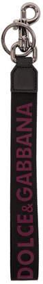 Dolce & Gabbana Black Rubber Logo Keychain