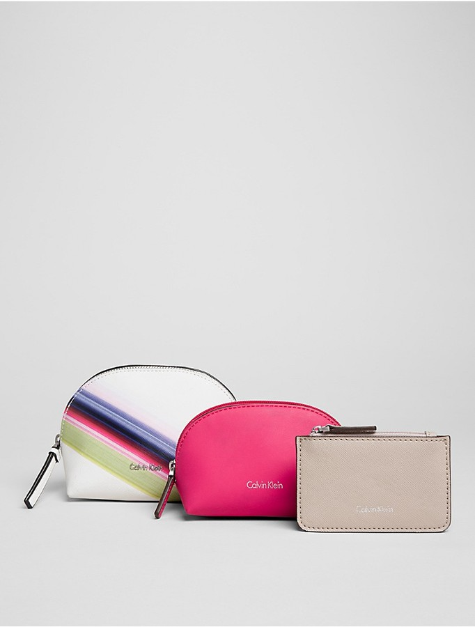 Calvin Klein Multi-Color 3-In-1 Cosmetic Bag