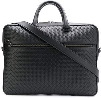 Bottega Veneta intrecciato weave leather briefcase