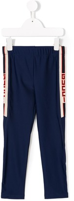 Gucci Kids side-striped technical leggings