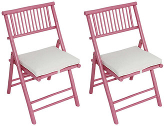 One Kings Lane Set of 2 Champion Side Chairs - Pink