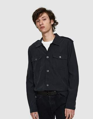 Our Legacy Casual Military Shirt Black Tech Cupro