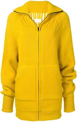 Maison Margiela open detail rib knit jacket