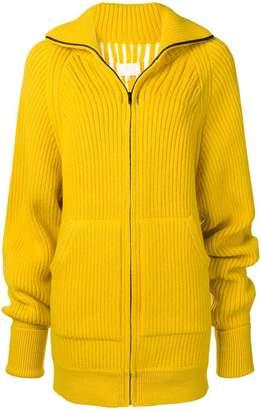 Maison Margiela open detail rib knit jacket