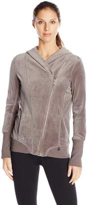 Calvin Klein Women's Velour Hooded Jacket