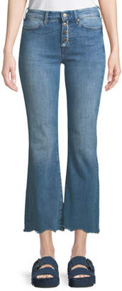 MiH Jeans Lou Button-Fly Flared-Leg Ankle Jeans