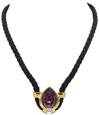 One Kings Lane Vintage Necklace with Amethyst Glass Pendant - Thanks for the Memories