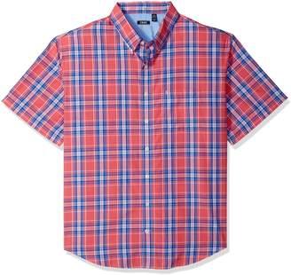 Izod Men's Tall Saltwater Breeze Plaid Short Sleeve Shirt