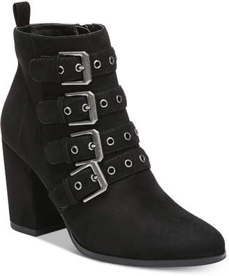 Carlos by Carlos Santana Gamma Buckle Block-Heel Booties