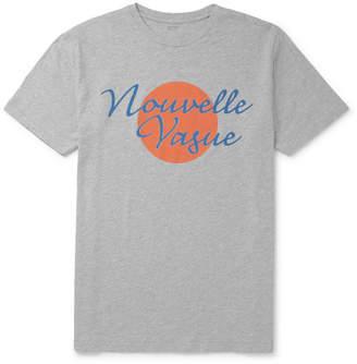 Hartford Printed Mélange Cotton-Jersey T-Shirt