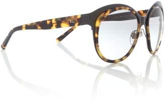 Polo Ralph Lauren Shiny black irregular 0RL7051 sunglasses