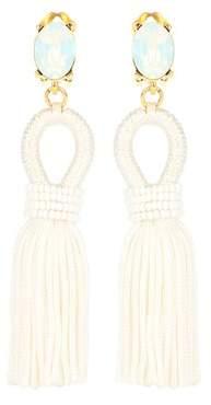 Oscar de la Renta Clip-on tassel earrings